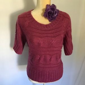 Rue 21 Hot Pink Knitted Pink Sweater